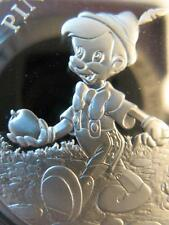 1 OZ.999 SILVER PINOCCHIO JIMINY CRICKET RARE DISNEY MASTER PIECES # PROOF COIN