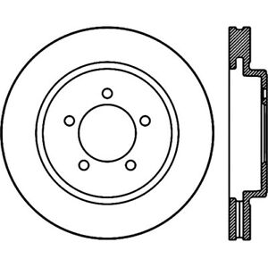 Stoptech 126.65118CSR Slotted Cryo Brake Rotor For 07-10 Ford Explorer Trac NEW