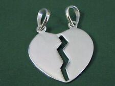Markenlose Echte Edelmetall-Anhänger ohne Steine aus Sterlingsilber mit Liebe & Herzen