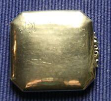 Art Deco Puderdose Schminkkästchen 835S Meistermarke Mond Krone Silberdose rund