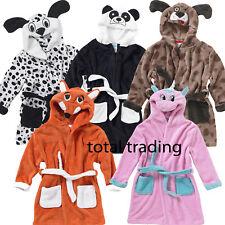 GIRLS BOYS KIDS  MONSTER ANIMAL 3D DRESSING GOWNS ROBES unicorn pug panda