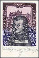 Pevny Pavol 1990 Exlibris C3 Wolfgang Amadeus Mozart Music 227