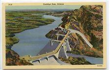 Vintage Linen Postcard ~ COOLIDGE DAM, ARIZONA ~ Curteich