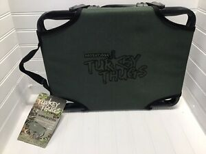 NEW Turkey Thugs Gobbler Folding Turkey Stool Lightweight Carry Handle Dk Green