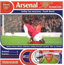 Arsenal 2004-05 Everton (Quincy Owusu-Abeyie) Football Stamp Victory Card #412