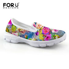 New Flowers Slip on Shoes Casual Basic Flat Women's Comfortable Soft Breathable