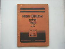 MORRIS COMMERCIAL parts list for the CV10/5 and CV13/5 chassis published 1948