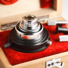 Lomo USSR DARK FIELD Condenser OI-2 Apt. 1.15 Microscope Zeiss BOXED KIT phase