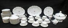 76-Piece Vintage Porcelain Dinnerware Set, Johann Haviland Rose Chintz Pattern