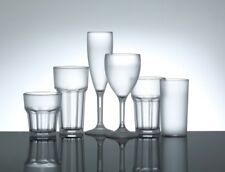 More details for frosted plastic wine glasses, champagne flutes & tumbler glasses - polycarbonate