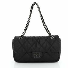 Chanel Le Marais Ligne Flap Bag Quilted Coated Canvas Medium