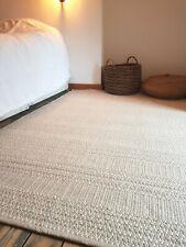 Large size Beige soft 120x180cm Reversible rug. Modern Cotton Serengeti rug