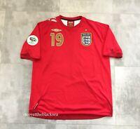 ENGLAND NATIONAL TEAM 2006 2008 #19 LENNON FOOTBALL SOCCER SHIRT JERSEY UMBRO