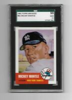 1991 MICKEY MANTLE - SGC 98 GEM MINT 10 TOPPS ARCHIVES # 82 - NEW YORK YANKEES