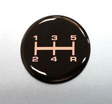 Gear Knob Shift Pattern Sticker 5 Speed - CHROME & BLACK - GLOSS DOMED GEL