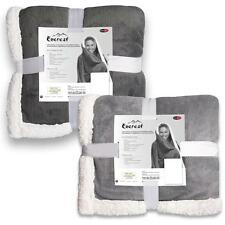 Kuscheldecke Wohndecke Tagesdecke Sofa 155x200 200x220 XXL grau silber Everest