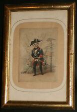 ancienne gravure caricaturale satyrique Napoléon III le petit milieu XIX ème