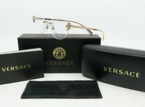 Versace MOD.1254-B 1429 New Rose Gold Women's Rimless Glasses with box 54mm