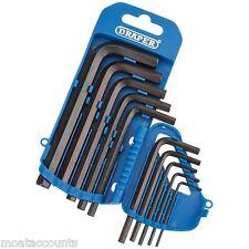 Draper 10pc hexagonal Juego de llaves en un soporte de almacenamiento de plástico [33687] Allen