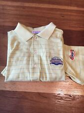 State Farm classic Golf Shirt, yellow, double mercernized shirt!  Worn once SM