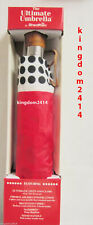 New Womens Red & Black & White ShedRain Umbrella The Ultimate Umbrella