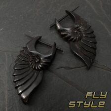 earrings nautilus Ammonit Horn Earrings Natural Jewelry Handmade Fake Piercing