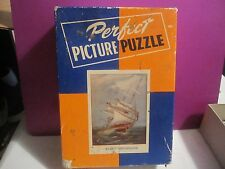 """RARE VINTAGE PERFECT PICTURE """"OCEAN GREYHOUND"""" JIGSAW PUZZLE COMPLETE"""