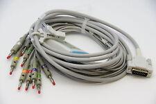 Schiller 10 Lead ECG/EKG Cable AHA Banana 4.0mm AT3 AT6 CS6 AT5 AT10 AT60 NEW US
