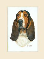 Original Basset Hound Painting by Robert J. May