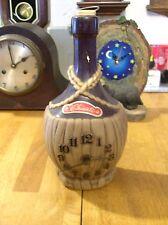 Spartus Chianti Wine Bottle Desk/Mantel Clock  Co. Electric.