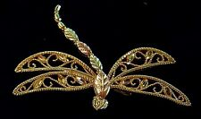 10 & 12K Multi Toned Gold Dragonfly Pendant/Detailed & Unique-NICE N365-K