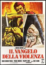 IL VANGELO DELLA VIOLENZA MOVIE MANIFESTO CINEMA 1975 LA RAGE AU POING POSTER 4F