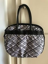 LeSportsac Large Travel Tote Weekender Abstract Pattern Black/White/Gray