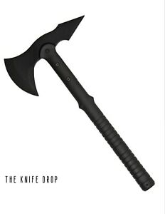 """Training Tactical Throwing Axe 15.5"""" Black Rubber Blade"""