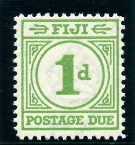 Fiji 1940 KGVI Postage Due 1d emerald-green superb MNH. SG D11. Sc J12.