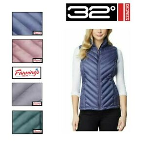 SALE 32 Degrees Ladies' Packable Full Zip Lightweight Filled Vest VARIETY  -C31