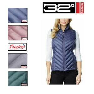 SALE 32 Degrees Ladies' Packable Full Zip Lightweight Filled Vest VARIETY  -C31
