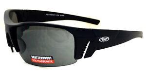Shatterproof UV400 Tinted Global Vision Motorcycle/Biker Sunglasses + Free Pouch