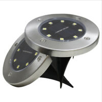 Waterproof LED Solar Power Light Ground Garden Lights Yard Underground Lamps