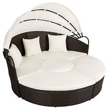 Conjunto de sillones aluminio ratán isla meubles jardín tumbona sofá marrón anti