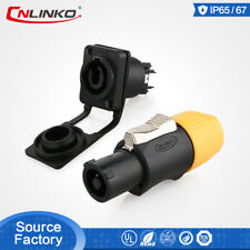 CNLinko M24 3 Pin Powercon Waterproof Connector For Led Lighting Display Screen