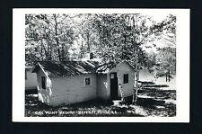 Bemidji Minnesota MN 1940s RPPC Oak Point Resort Cabins, Shores, Old Car Peeking