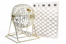 Regal Games Jumbo Professional Brass Bingo Cage With White Ping Pong Bingo Balls