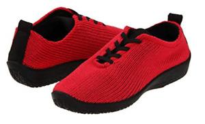 "Arcopedico LS Red ""Shocks"" Lace-Up Shoe Flat Women's sizes 36-42/5-11 NEW!!!"