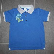 Tolles Polo Pikee Shirt in blau mit Stickerei in Gr. 86 von C&A - NEU m.E