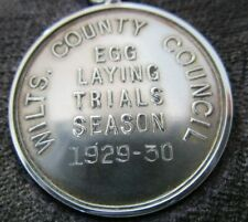 Silver Poultry Medal, Egg Laying Trials Season, 1929 - 30