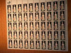 Vintage Full Mint Sheet of 50 Stamps American Artist - John Copley 5 cent