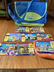Leap Frog My First Leap Pad Learning System Lot of 9 Books 7 Cartridges & Case