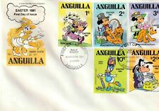 Anguilla 1981 Disney FDC Easter 1981 Daisy Duck  Set 3 Covers - DI 5388