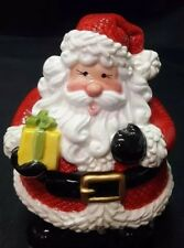 Fitz And Floyd Gifts from Santa Lidded Christmas Candy Box New in Original Box